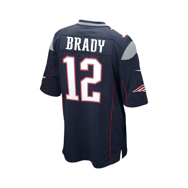 Youth Nike Tom Brady Game Jersey-Navy