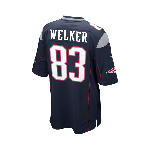 Youth Nike Wes Welker Game Jersey-Navy