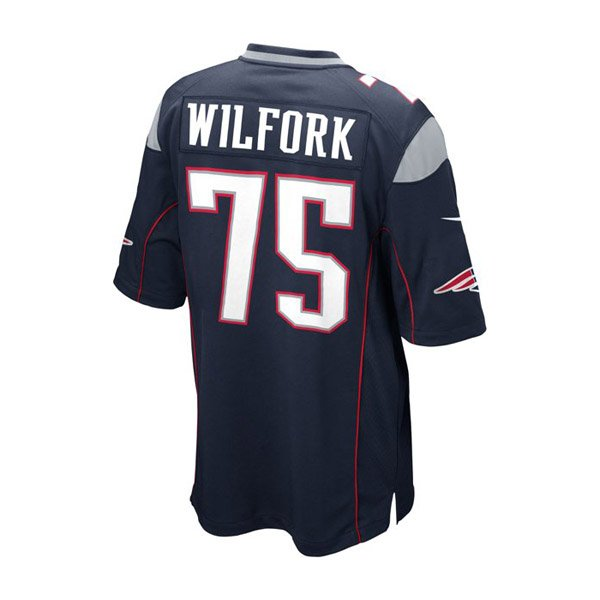 Youth Nike Vince Wilfork Game Jersey-Navy