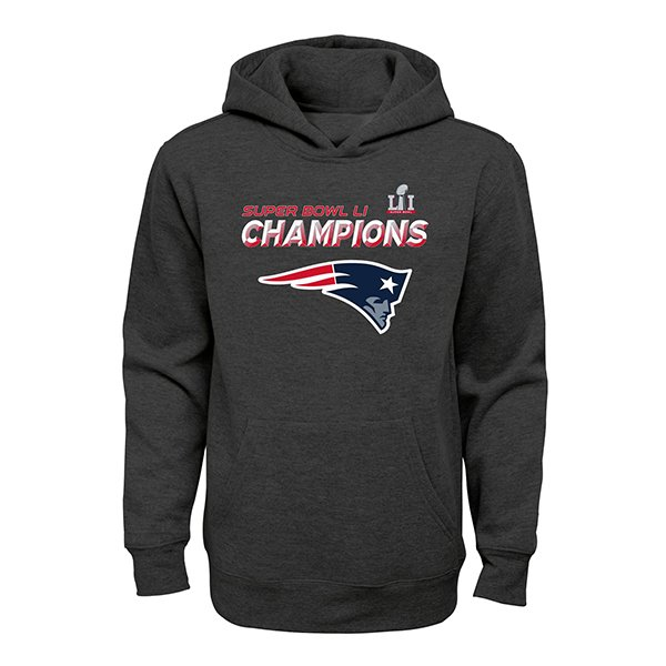 Youth Super Bowl Champions Hood-Charcoal