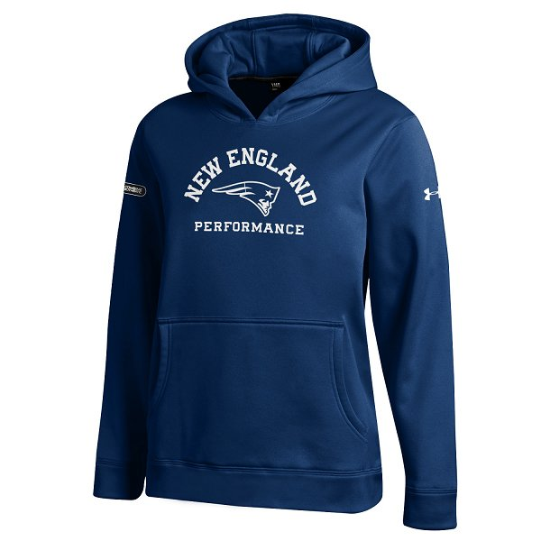 Youth NFL Combine Armour Fleece Hood-Navy