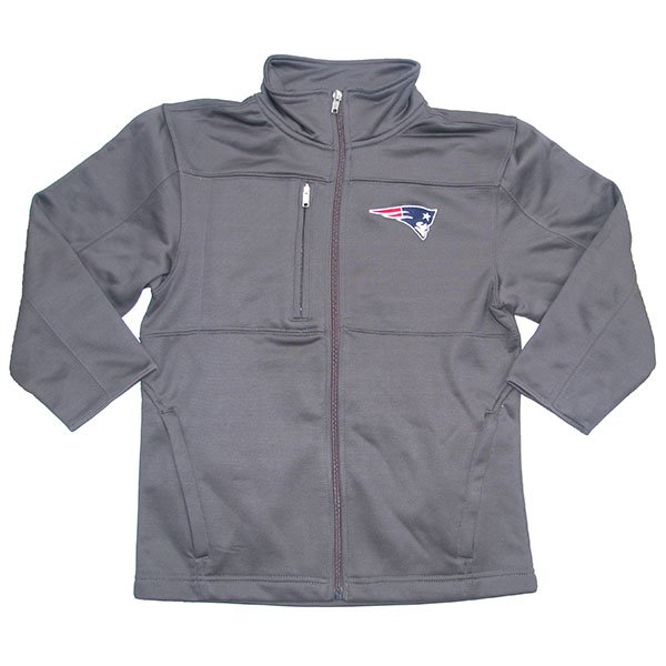 Patriots Youth Bonded Full Zip Jacket-Charcoal