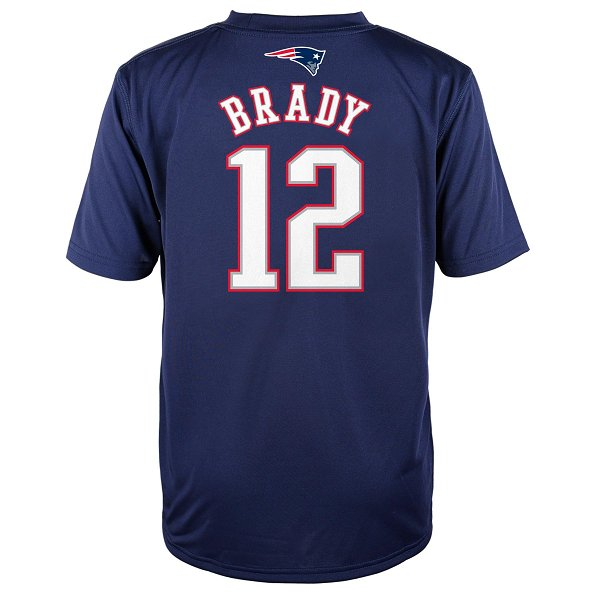 Youth Brady Name & Number Performance Tee-Navy