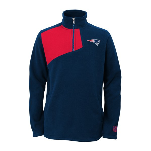 Youth Flex 1/4 Zip Microfleece Jacket-Navy/Red