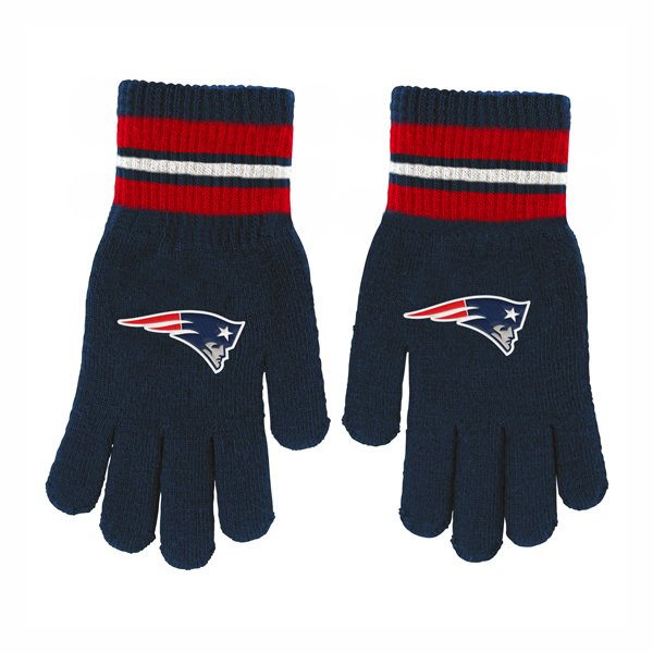 Youth Patriots Knit Gloves-Navy