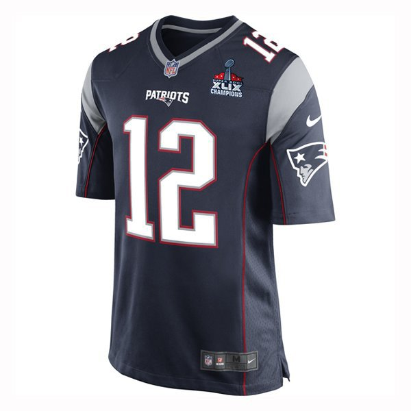 Youth Nike Tom Brady Game Jersey w/SB Patch-Navy