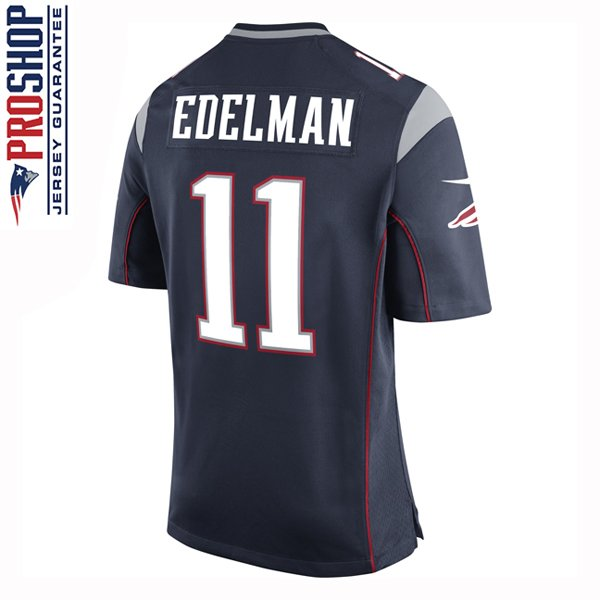 Youth Nike Julian Edelman Game Jersey-Navy