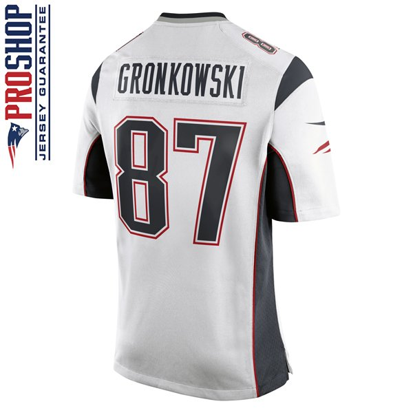Youth Nike Rob Gronkowski Game Jersey-White