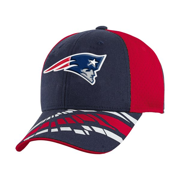 Youth Patriots Slant Cap-Navy/Red