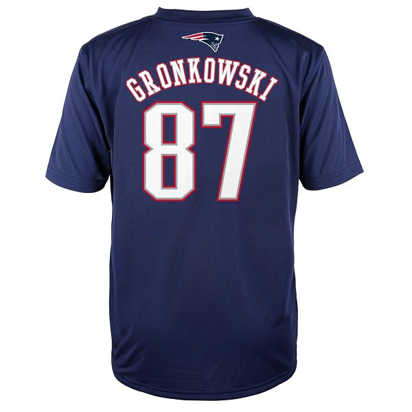 Youth Gronkowski Name  Number Performance TeeNavy