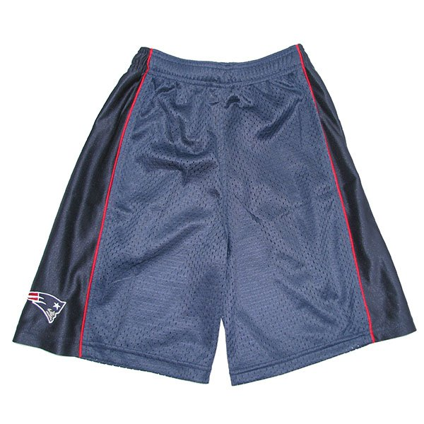 Patriots Youth Mesh Shorts-Navy