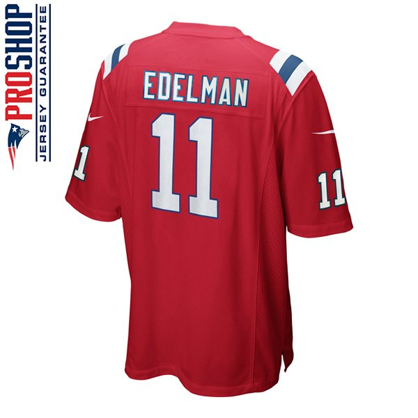 Youth Nike Julian Edelman Throwback Jersey-Red