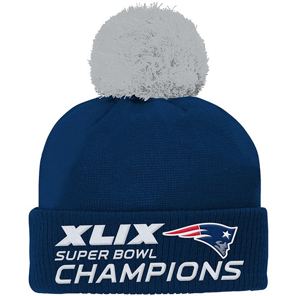 Youth Super Bowl XLIX Champs PomPom Knit Hat