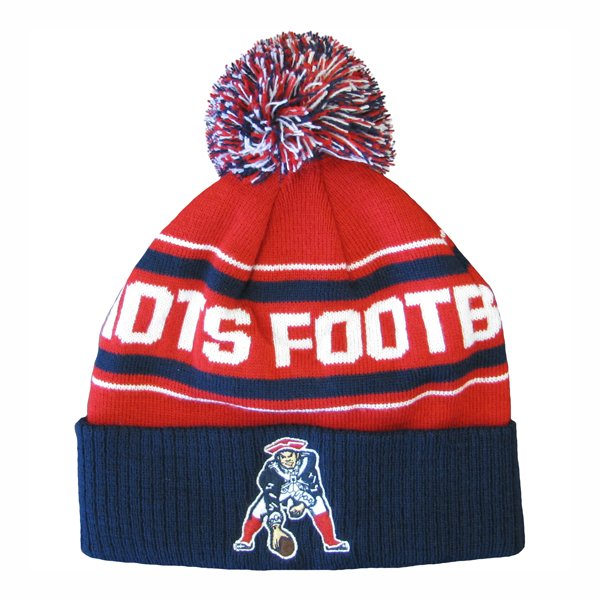 Youth Throwback Cuffed Knit Hat w/Pom