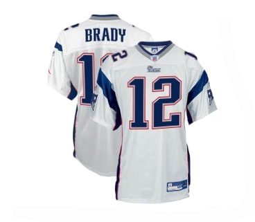 Youth Tom Brady Away Jersey-White