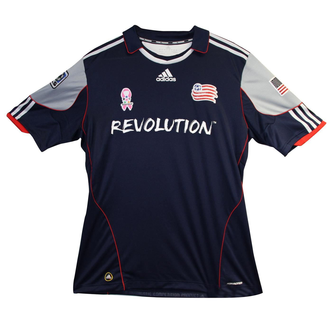 The Revolution's jerseys will feature pink ribbons on Saturday night